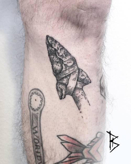 Flint dagger tattoo