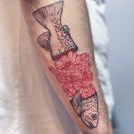 Floral filet tattoo by lindsay april