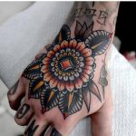 Floral mandala tattoo by mors tattoo