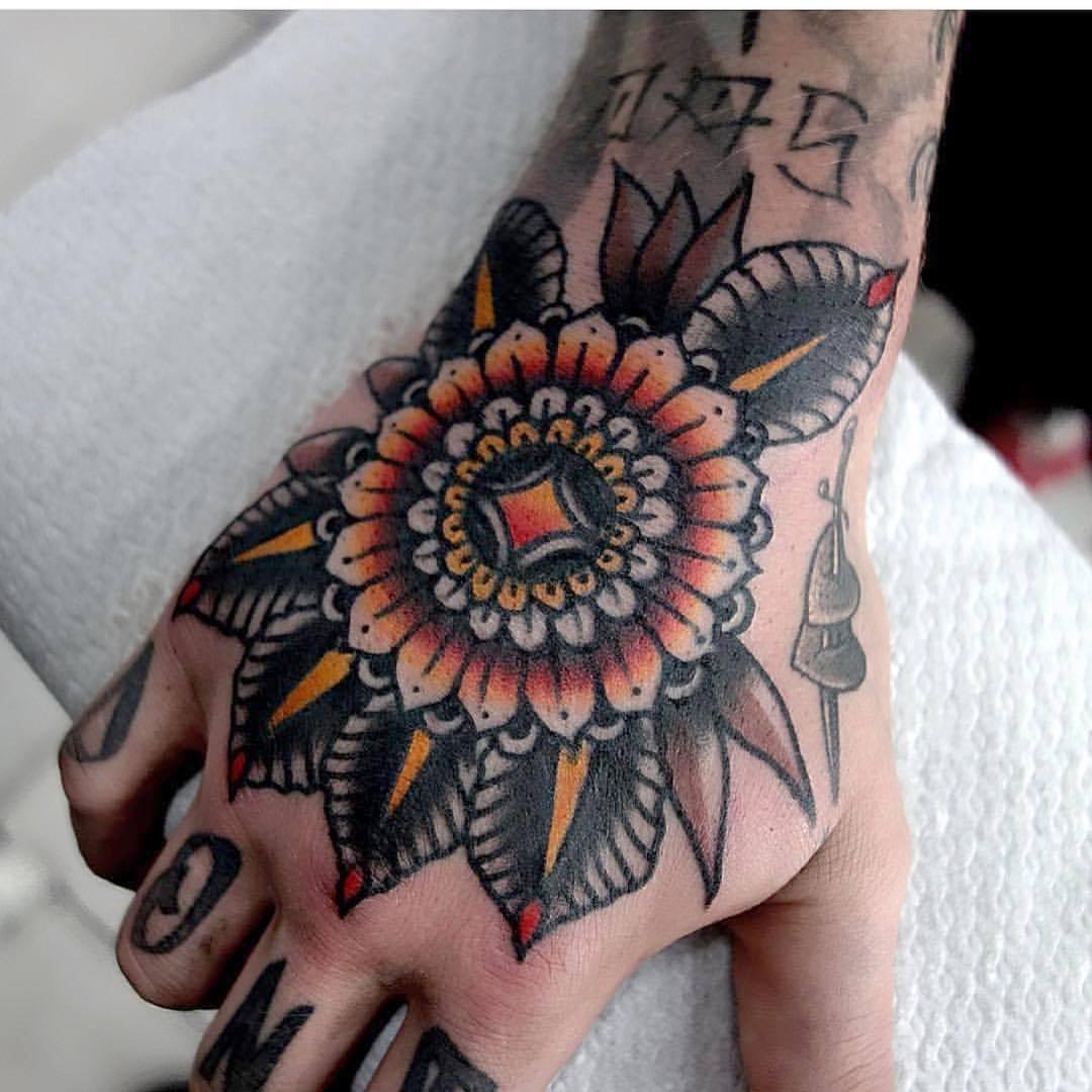 Floral mandala tattoo by mors tattoo