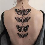 Four butterfly tattoos by pech schwarz