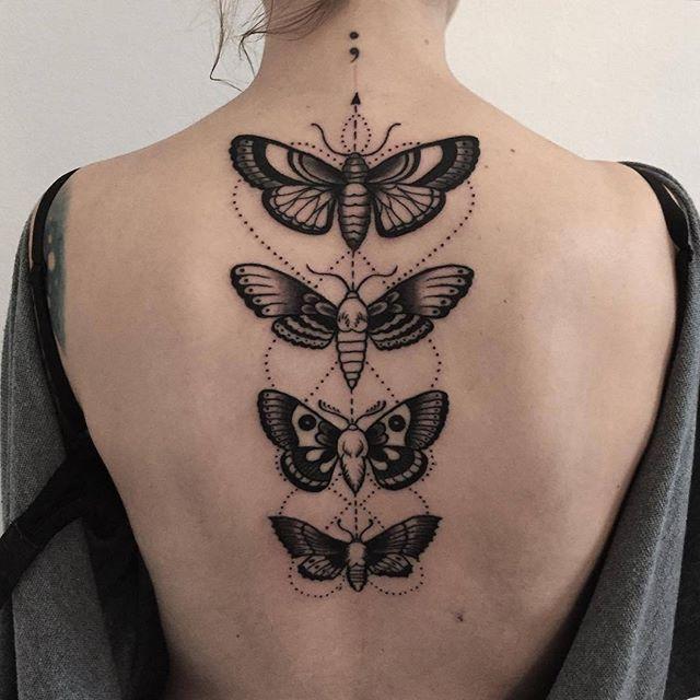 Four butterfly tattoos by pech schwarz