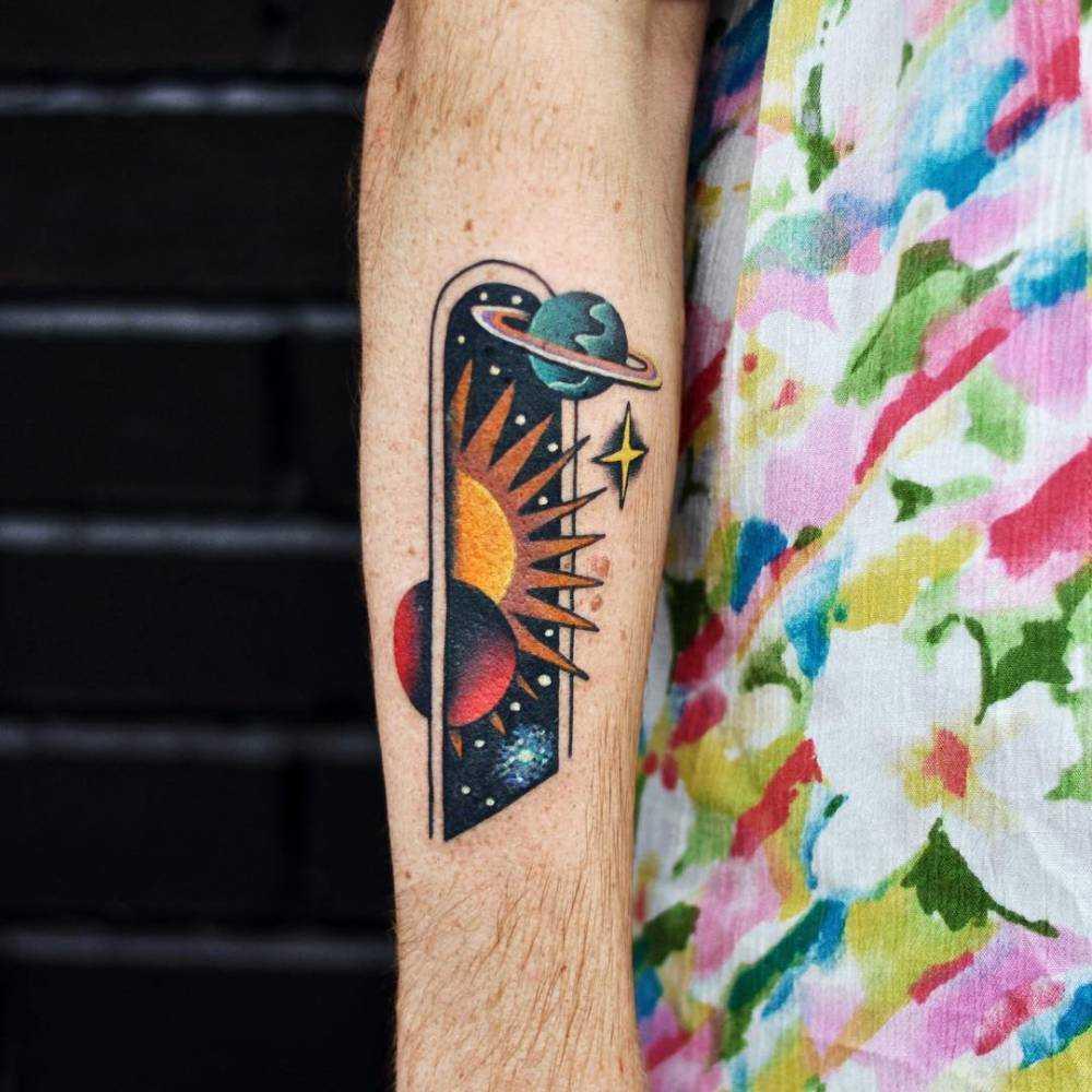 Galactic doorway tattoo by david côté