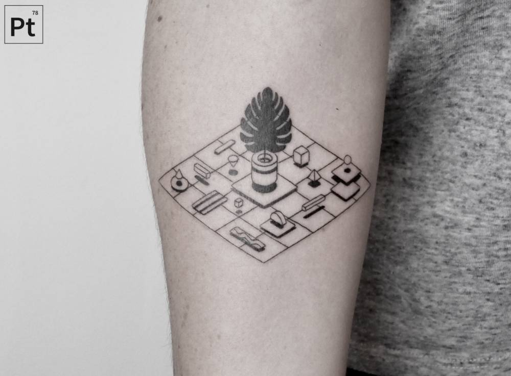 Geometric shapes tattoo by pablo torre