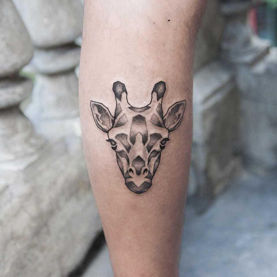 Giraffe head by dogma noir