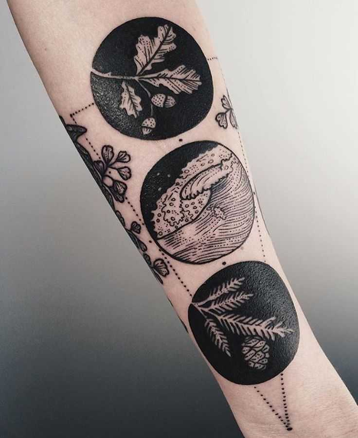 Gorgeous circle tattoos