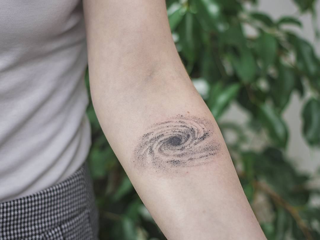Hand poked galaxy tattoo by ponto tattoo