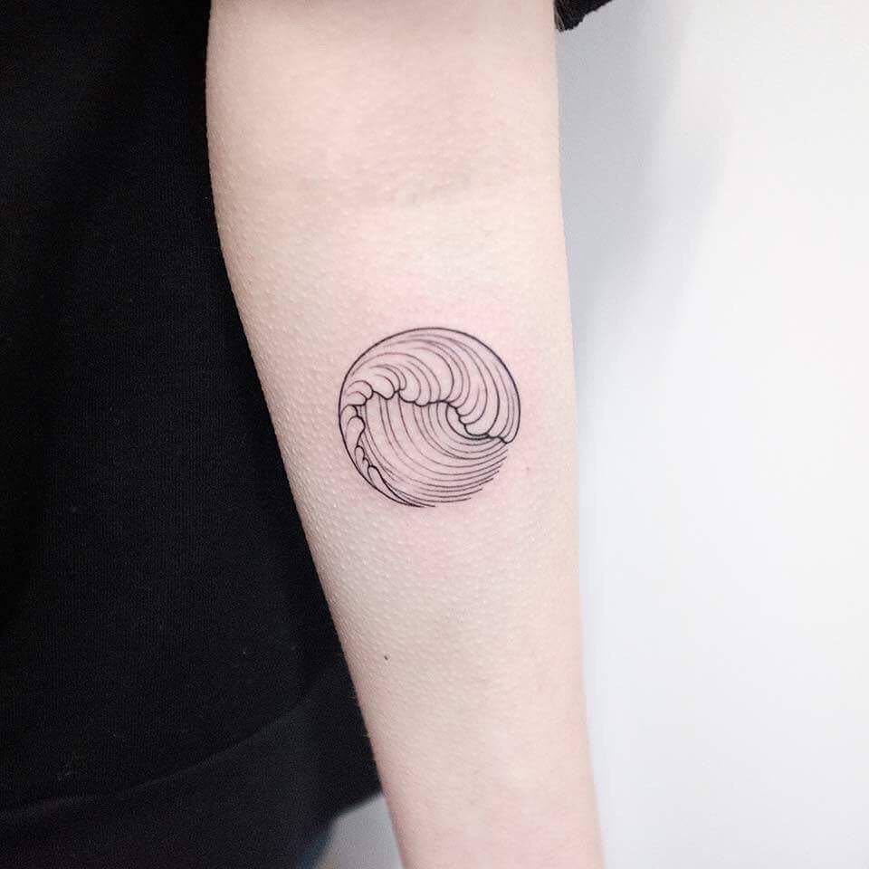 Hokusai wave tattoo by dogma noir