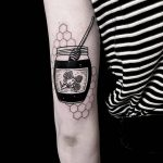 Honey jar tattoo by melle alyx