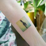 Horse in the fog tattoo by tattooist banul