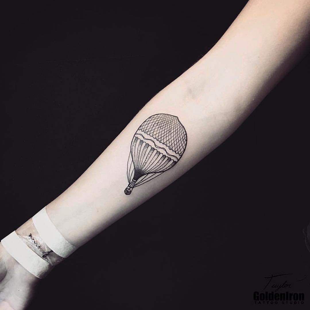 Hot air balloon tattoo by taylor
