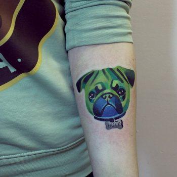 Hulk pug tattoo by sasha unisex