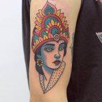 Indian goddess tattoo