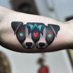 Jack russel heads tattoo