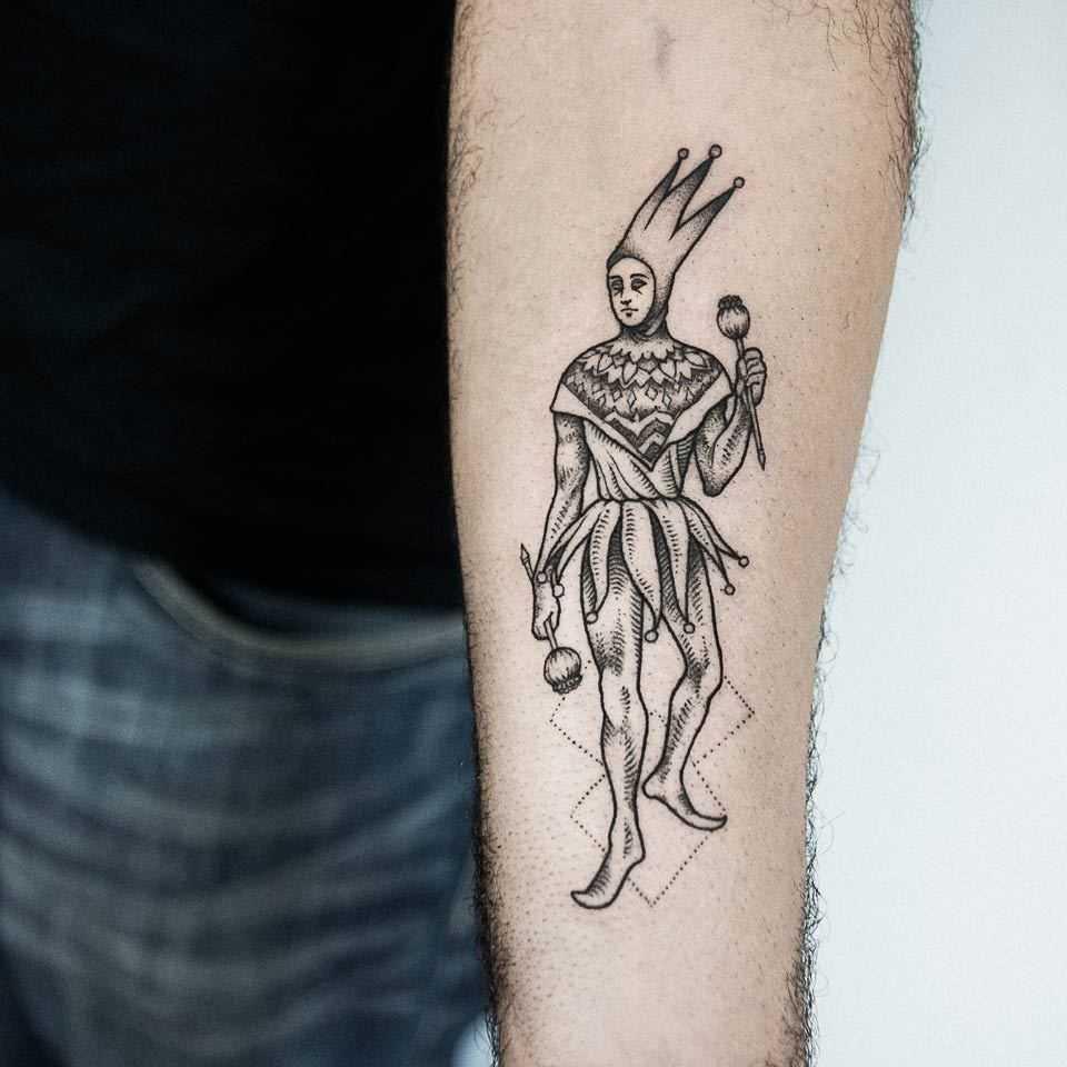 Joker Tattoo By Dogma Noir Tattoogridnet
