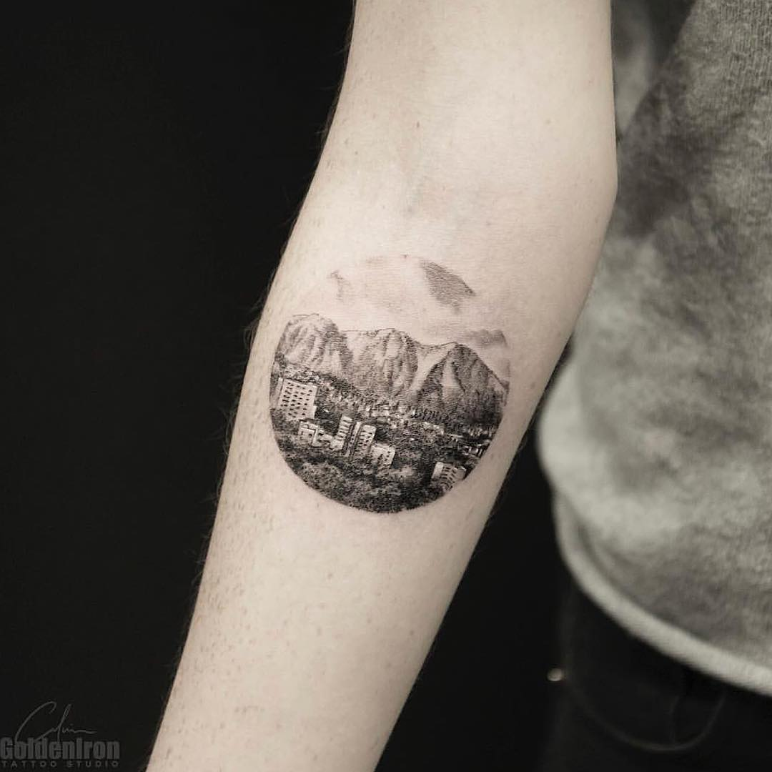 Landscape tattoo by calvin