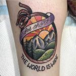 Life's short the world is wide tattoo