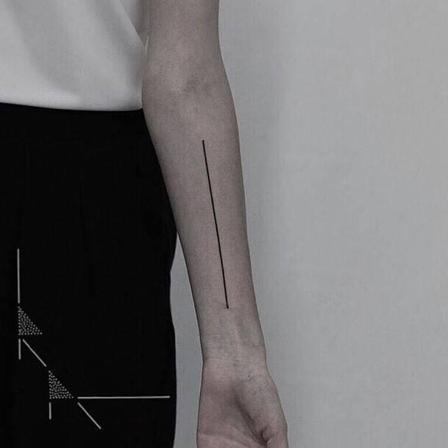 Line tattoo by rachainsworth