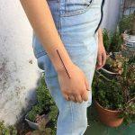 Line tattoo by para clara