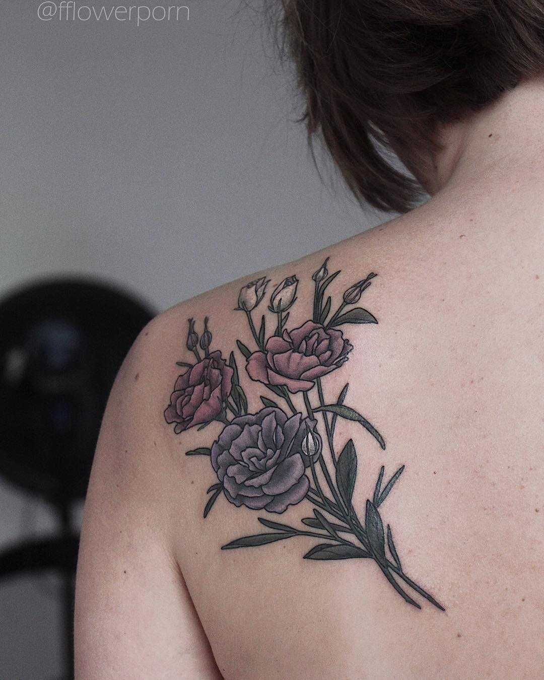 Lisianthus tattoo