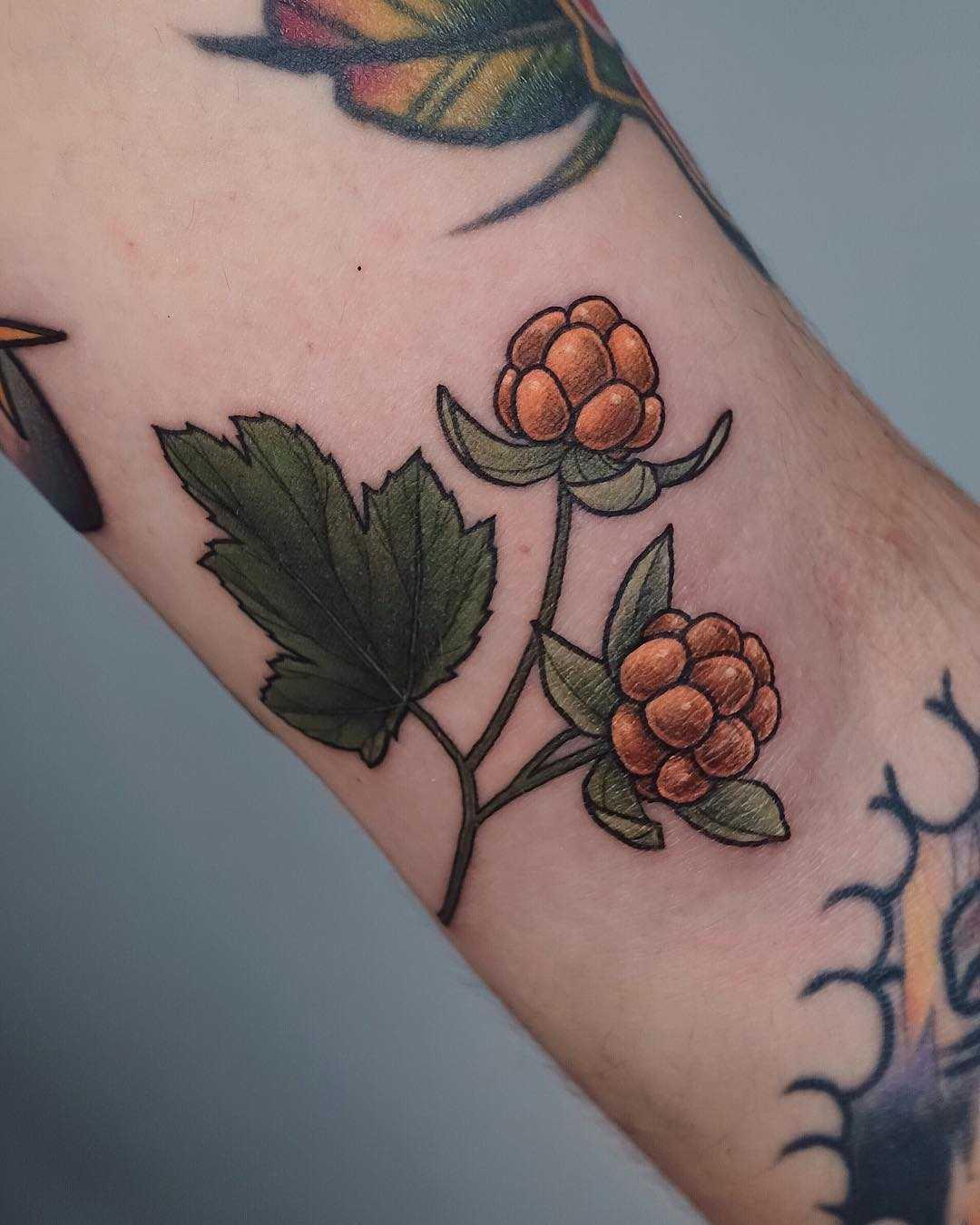 Little cloudberry tattoo