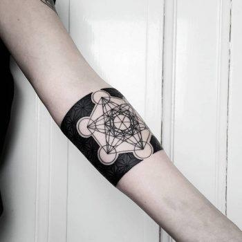 Metatron's cube tattoo by matteo nangeroni