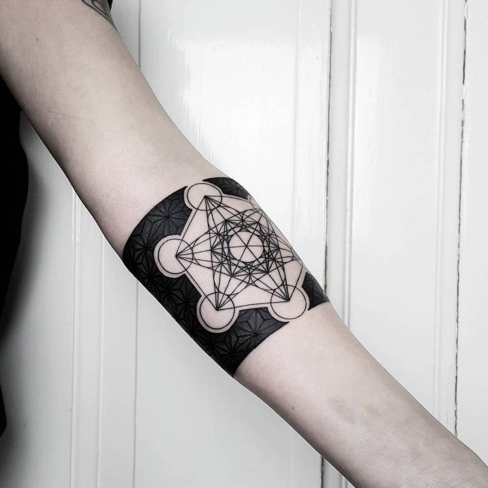 Metatron's cube tattoo by matteo nangeroni