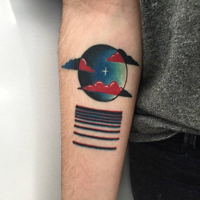 Moon reflections tattoo