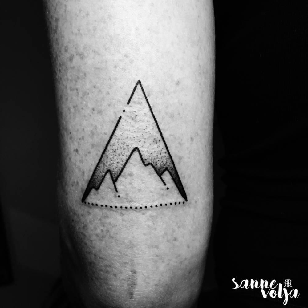 Mountain triangle tattoo