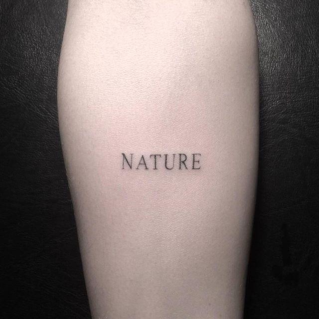 Nature tattoo hand poked by rough handz