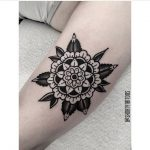 Negative space flower mandala by ana