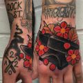 Neo traditional anvil tattoo