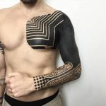 Neotribal sleeve tattoo