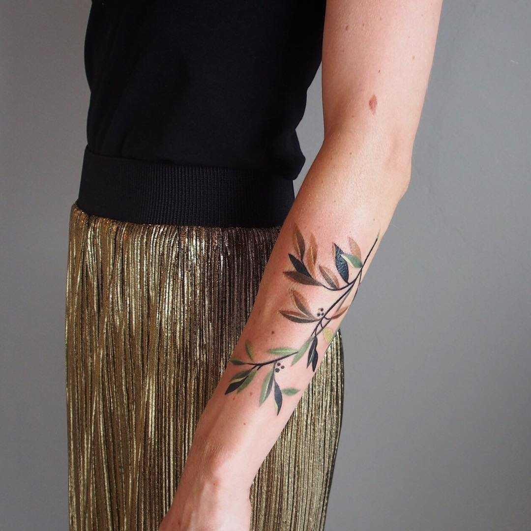 Olive tattoo by sasha unisex