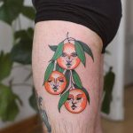 Orange faces tattoo by patryk hilton