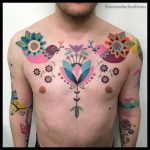 Ornamental chest tattoo by amanda chanfreau