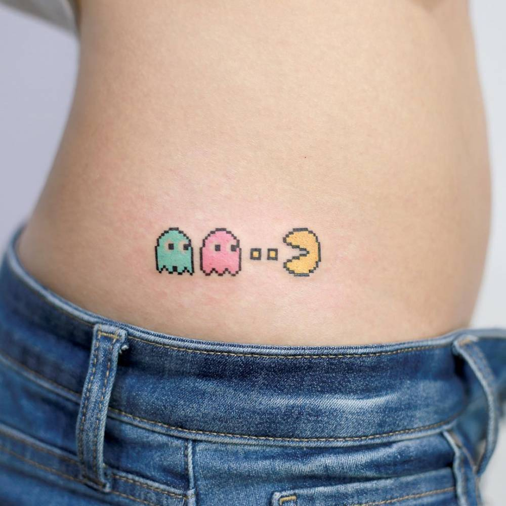 Pac man tattoo