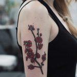 Plum blossom tattoo