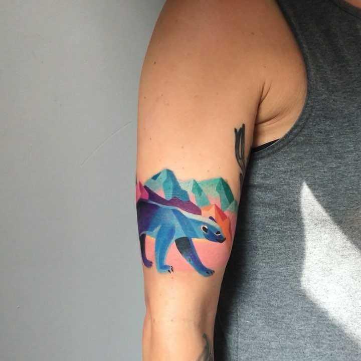 Polar bear tattoo by sasha unisex