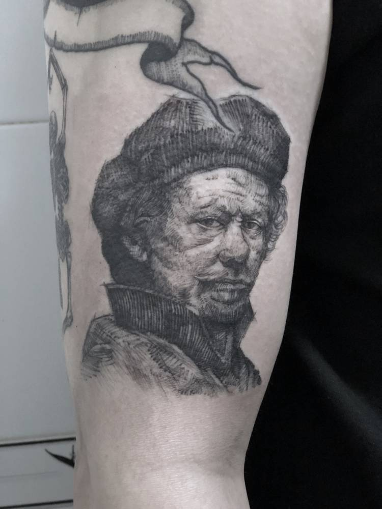 Portrait tattoo by jo ink