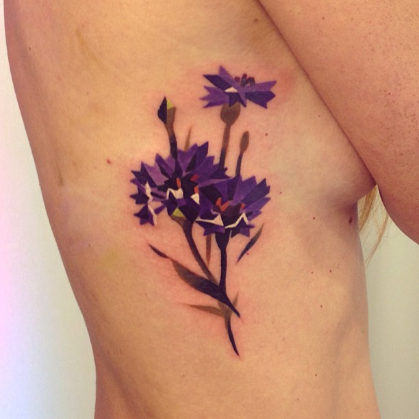 Purple cornflowers tattoo