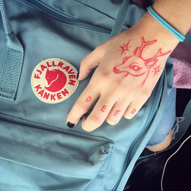 Red deer tattoo