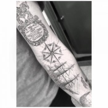 Sailor's sleeve tattoo