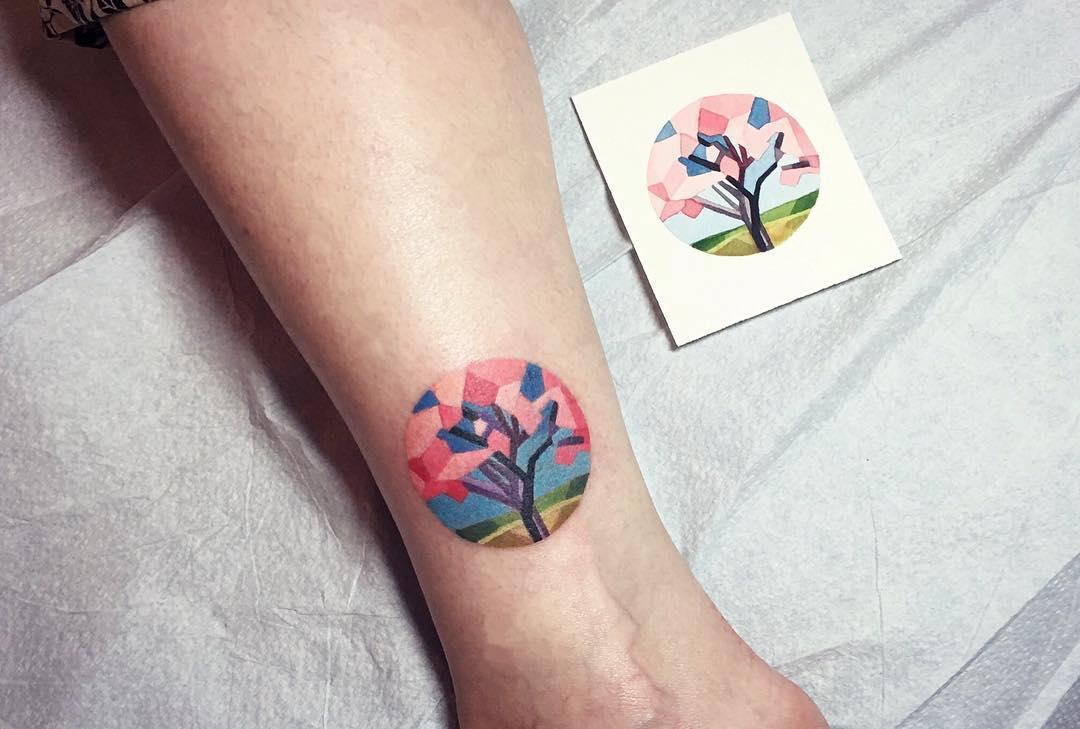 Small Jacaranda Tattoo: Sakura Tattoo By Sasha Unisex