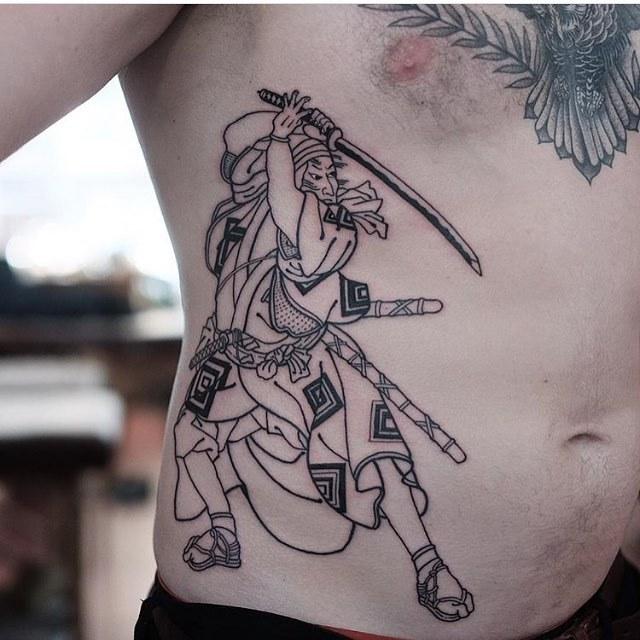 Samurai tattoo by jonas