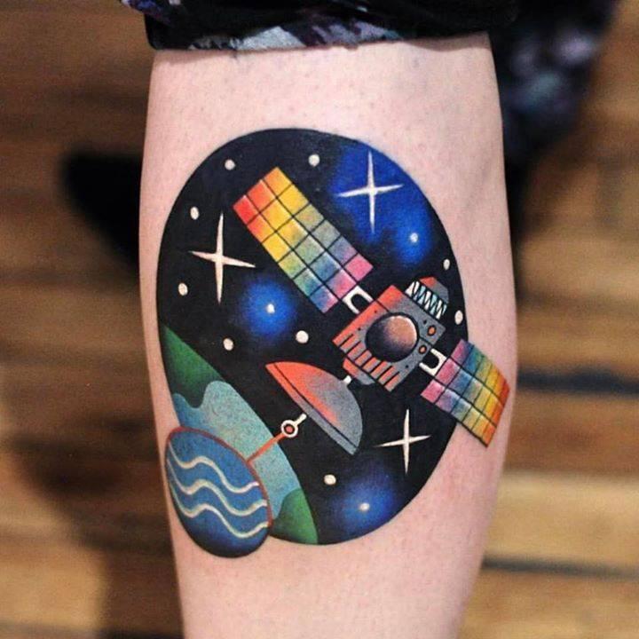Satellite tattoo by david côté