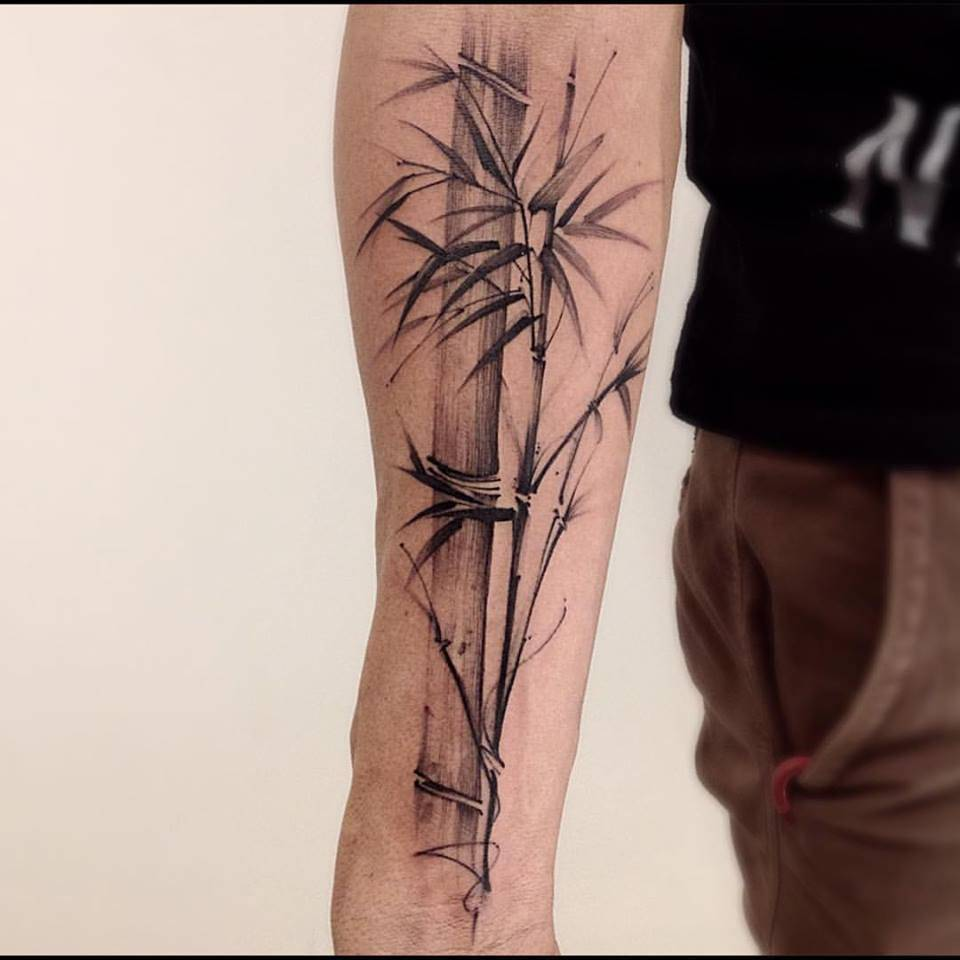 Sketchy bamboo tattoo