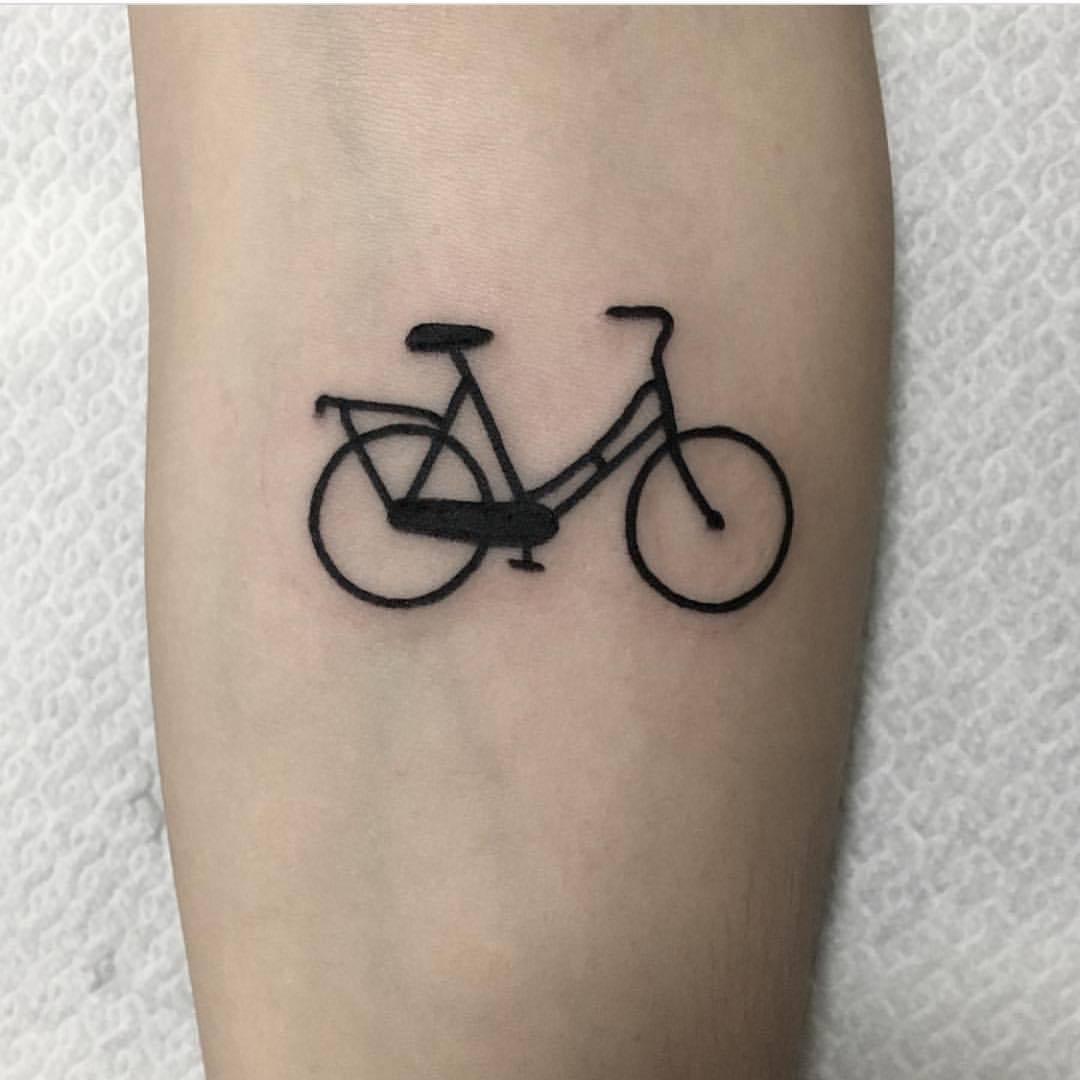 Small bicycle tattoo by jeroen van dijk