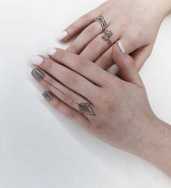Small flower tattoo by ann pokes