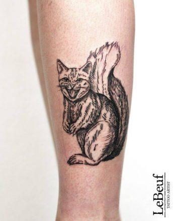 Squircat tattoo by loïc lebeuf